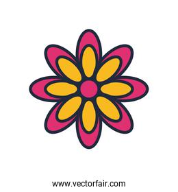 cute flower fill style icon