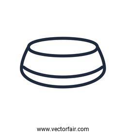 muslim dish with food line icon