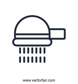 shower tap line style icon