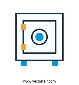 safe box fill style icon