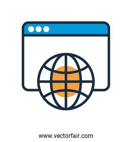 template with sphere browser fill style