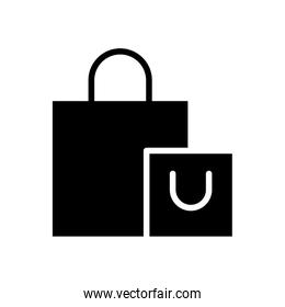 shopping bags silhouette style icon