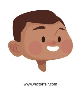 afro young man head avatar character
