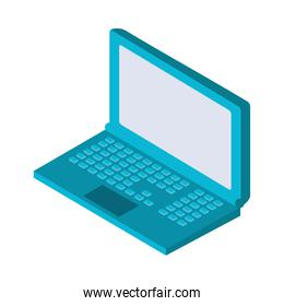 laptop computer portable isometric over white