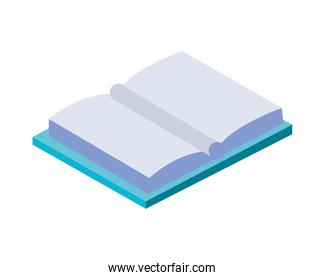 text book open library isometric icon