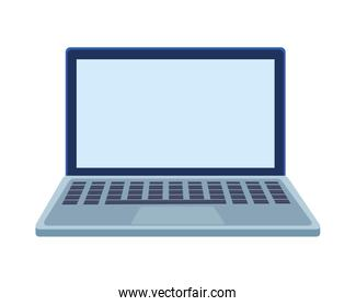 laptop computer portable isolated icon