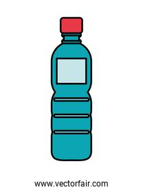 water bottle plastic isolated icon