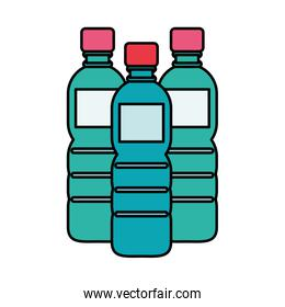water bottles plastic isolated icon