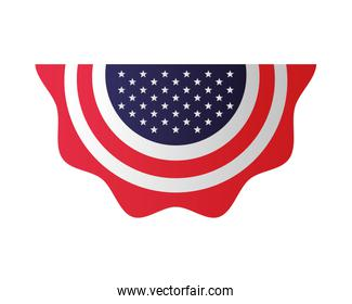 united states of america flag lace hanging