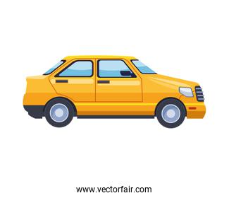 taxi transport vehicle isolated icon