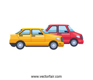 taxi and car transport vehicles
