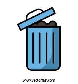 garbage waste fill style icon
