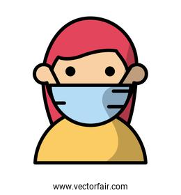 woman wearing medical mask fill style
