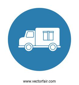 truck delivery silhouette block style icon