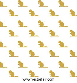 beavers animals rodents silhouettes pattern
