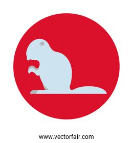 beaver animal rodent silhouette icon