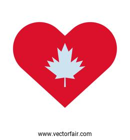 maple leaf canadian in heart love