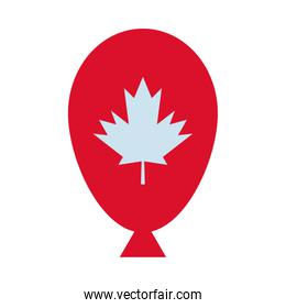 maple leaf canadian in balloon helium
