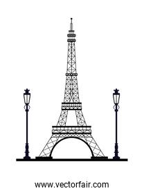 tower eiffel france monument icon