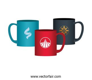 mugs with stationery templates