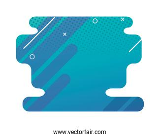 blue abstract figure background icon