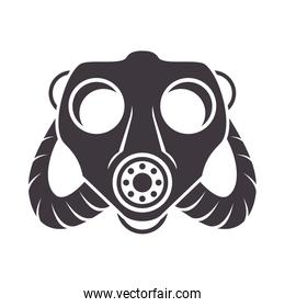 biosafety gas mask accessory chemical icon