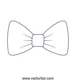 Isolated male bow tie linear style icon