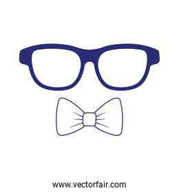 Glasses with bowtie vector design