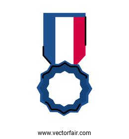 France medal line and fill style icon vector design