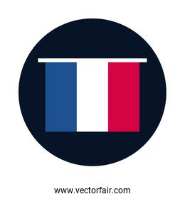 France flag block and flat style icon vector design