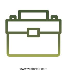 Isolated suitcase bag gradient style icon vector design