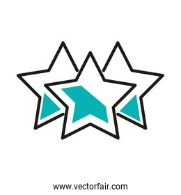 Isolated stars line style icon vector design
