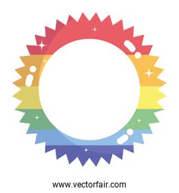 Isolated lgtbi seal stamp vector design