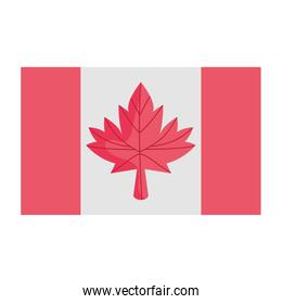 Isolated canadian flag vector design