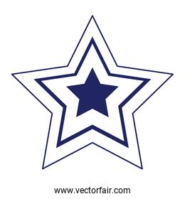 Isolated striped star shape vector design
