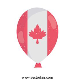 Canadian maple leaf inside balloon vector design