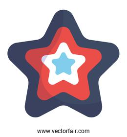 Isolated blue and red star shape vector design