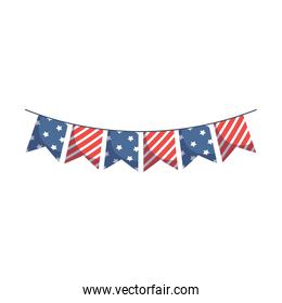 Isolated usa banner pennant vector design