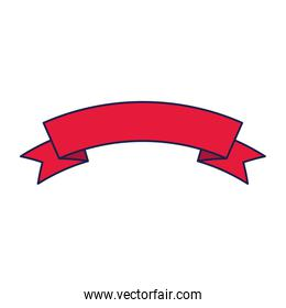 Isolated red ribbon icon vector design