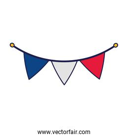 Blue white and red banner pennant vector design