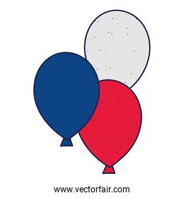 Blue white and red balloons vector illustration