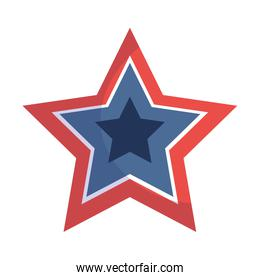 Blue and red star shape vector design