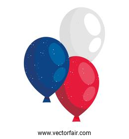 Blue white and red balloons vector design