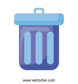 Isolated trash flat style icon vector design