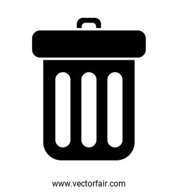 Isolated trash silhouette style icon vector design