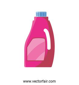 bottle of fabric softener on white background