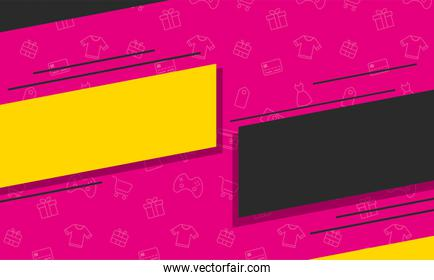 sales banner colors poster icon