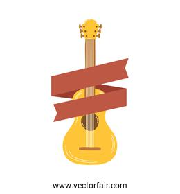 guitar musical instrument with ribbon frame