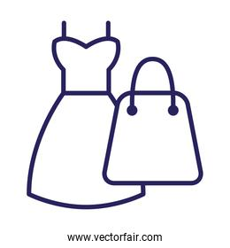 shopping bag with dress female
