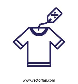 male shirt clothes isolated icon